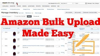 How to bulk upload products in Amazon using the excel template
