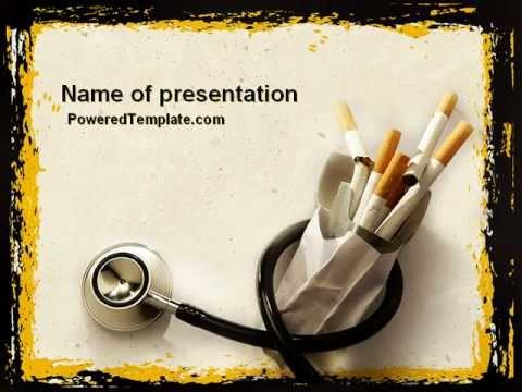Smoking Kills Powerpoint Template By Poweredtemplate Youtube