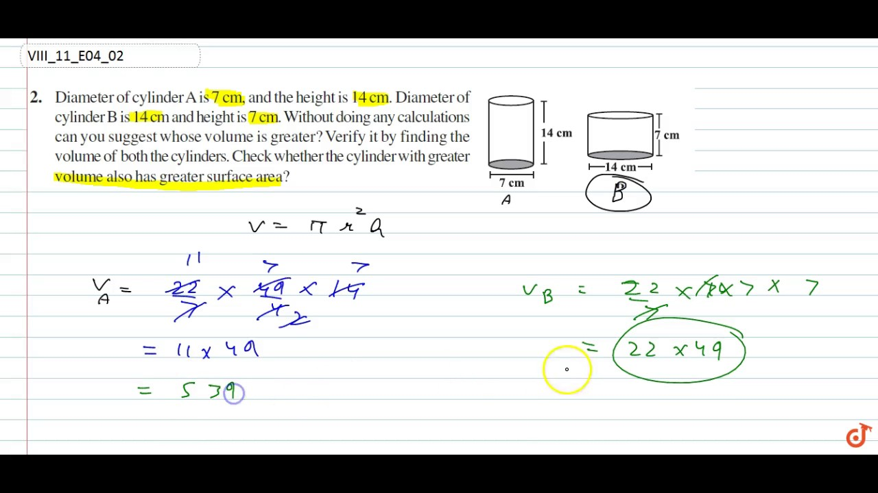 Ncert  Class Viii  Mensuration  Exercise 4  Question No 2