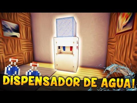 MINECRAFT: COMO HACER UN DISPENSADOR DE AGUA DEMASIADO REALISTA!! | + SORTEO CUENTAS PREMIUM!!