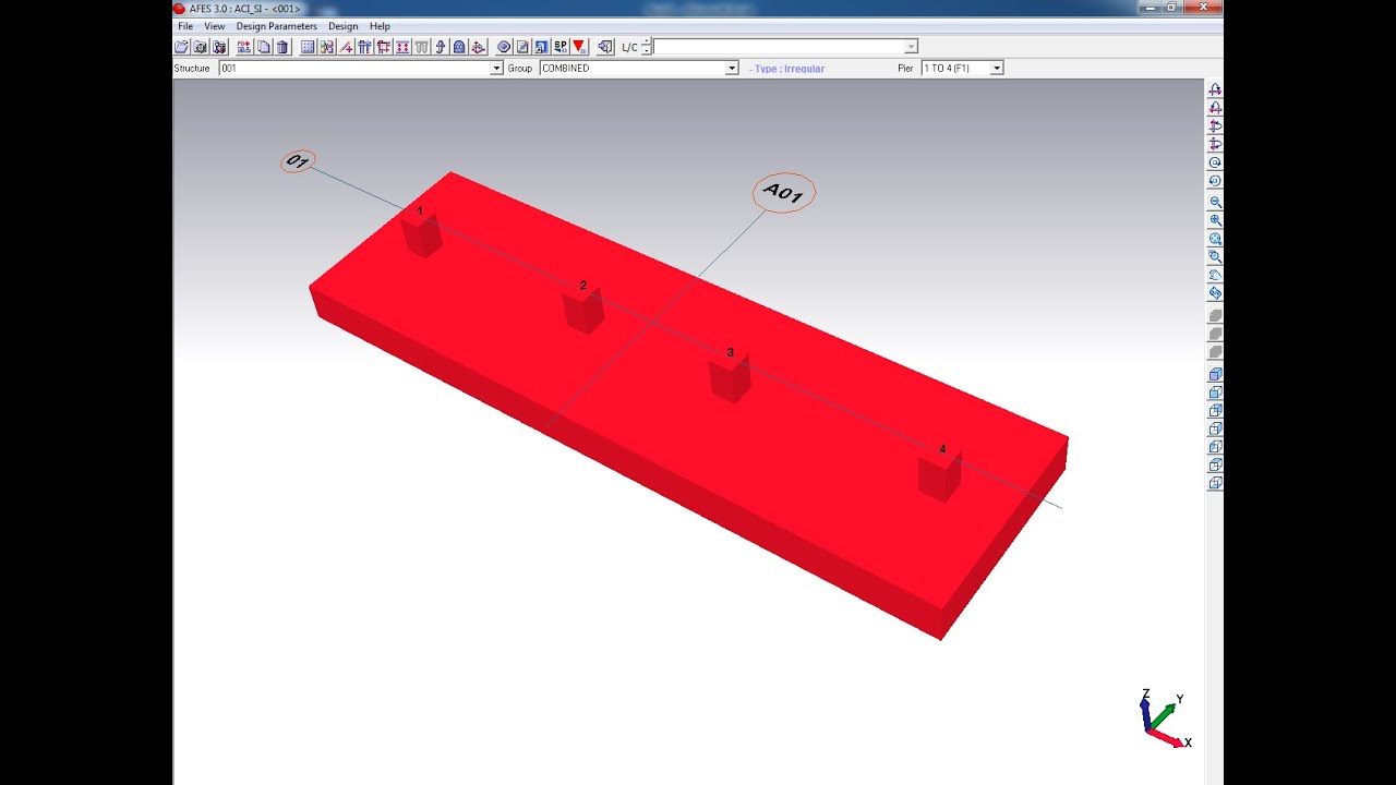 AFES-Foundation Design Software-Continuous Footing-01