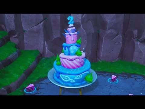 Fortnite Battle Royale - All 10 Birthday Cakes Locations Guide (2nd Birthday Challenges)
