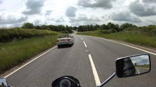 A447 How not to overtake, bikers like this give us all a bad name..