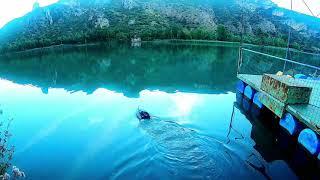 Рыбалка на реке Segre тест кораблика для закорма рыбы Щука плотва день первый