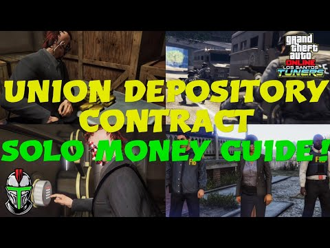 SOLO UNION DEPOSITORY CONTRACT MONEY GUIDE! - GTA Online