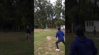 Бросок и ловля мяча в слоумо