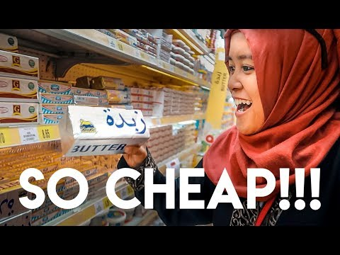 WHAT IS IN A SAUDI ARABIAN SUPERMARKET? | THE CHEESE IS CHEAP!