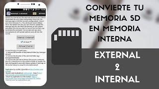 Convertir Memoria SD en Memoria Interna Android 2016 | Root| IntoPhone
