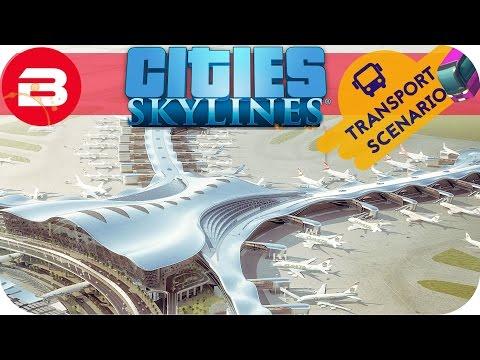 Cities Skylines Gameplay - AIRPORT TIME! (Cities: Skylines TRANSPORT Scenario) #5