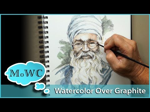 using-watercolor-over-pencil-and-graphite-drawings