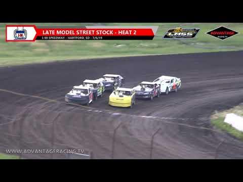 Late Model Street Stock Heats - I-90 Speedway - 7/6/19