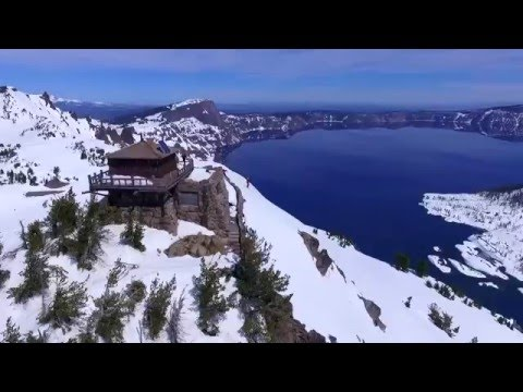 Viral Video UK: Stunning drone footage of Crater Lake, Oregon, USA