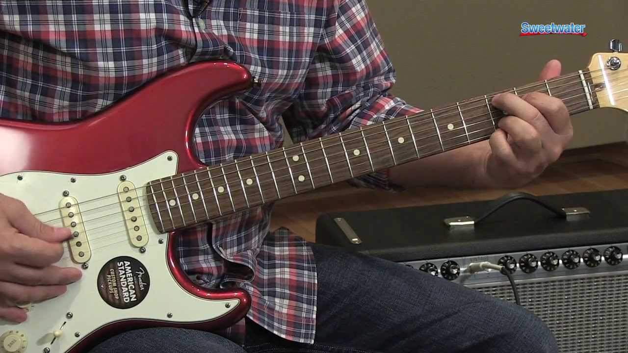 Fender American Standard Stratocaster Electric Guitar Demo ...