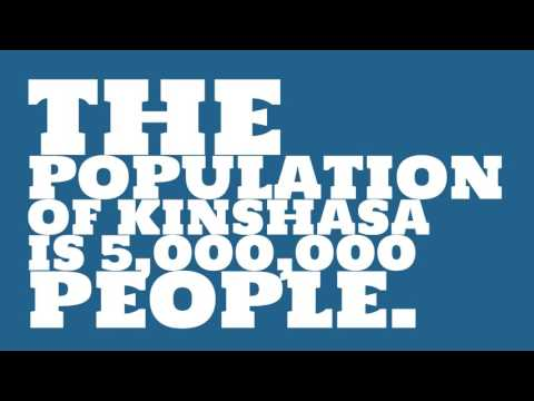 What is the land area of Kinshasa?