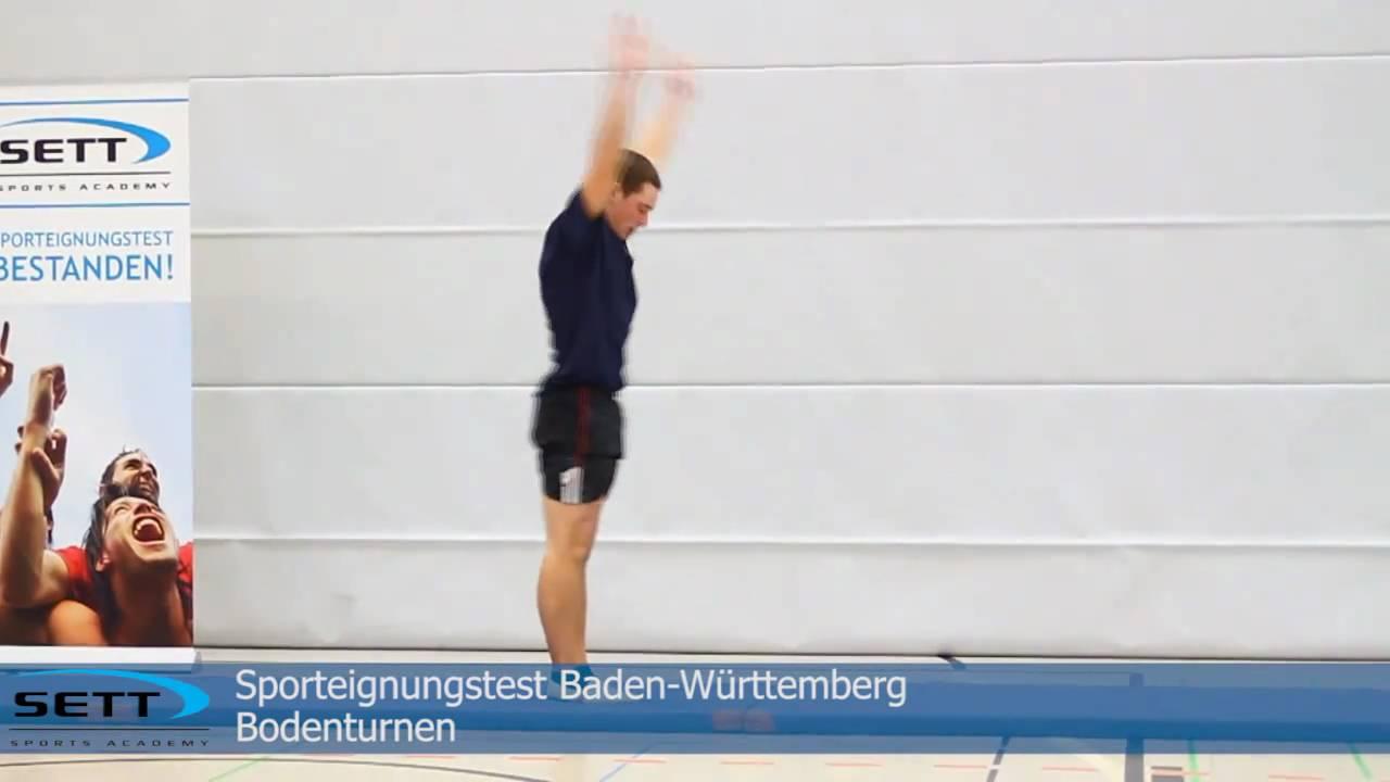 Sporteignungstest B W Turnen Boden Youtube