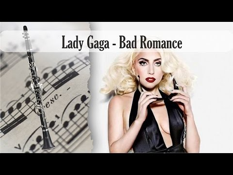 Partitura Lady Gaga - Bad Romance Clarinete Soprano