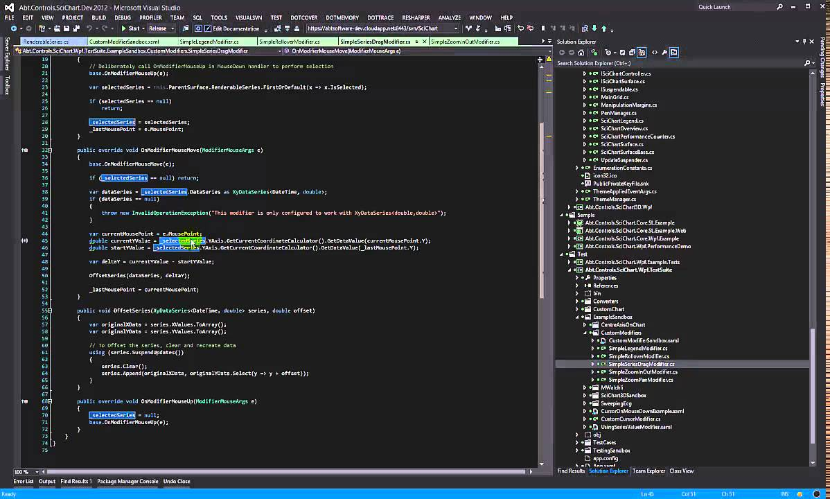 WPF Charts - Dragging a Series - SciChart Custom Chart Modifiers Part 3