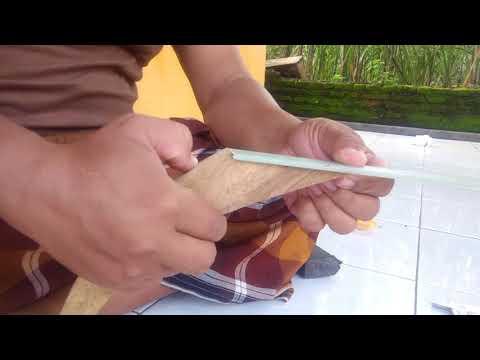Cara buat busur dari fiber.