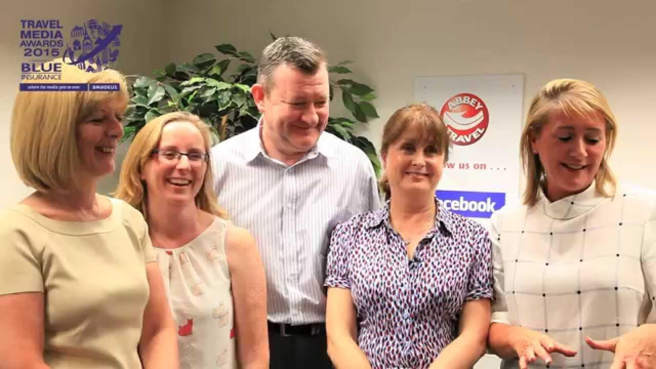 Abbey Travel Staff Dublin - talk about Con Horgan - Travel Media Awards 2015