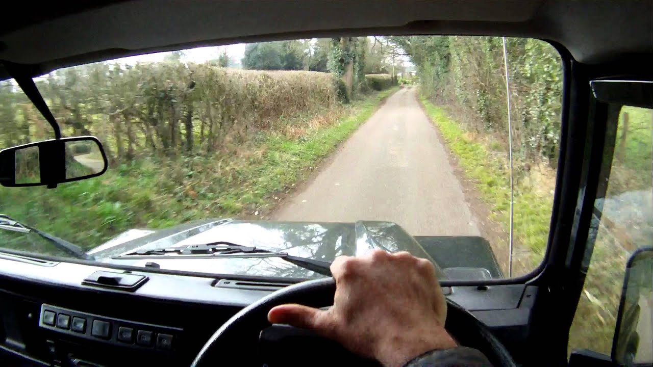 land rover defender 90 TD5 county hardtop for sale in action
