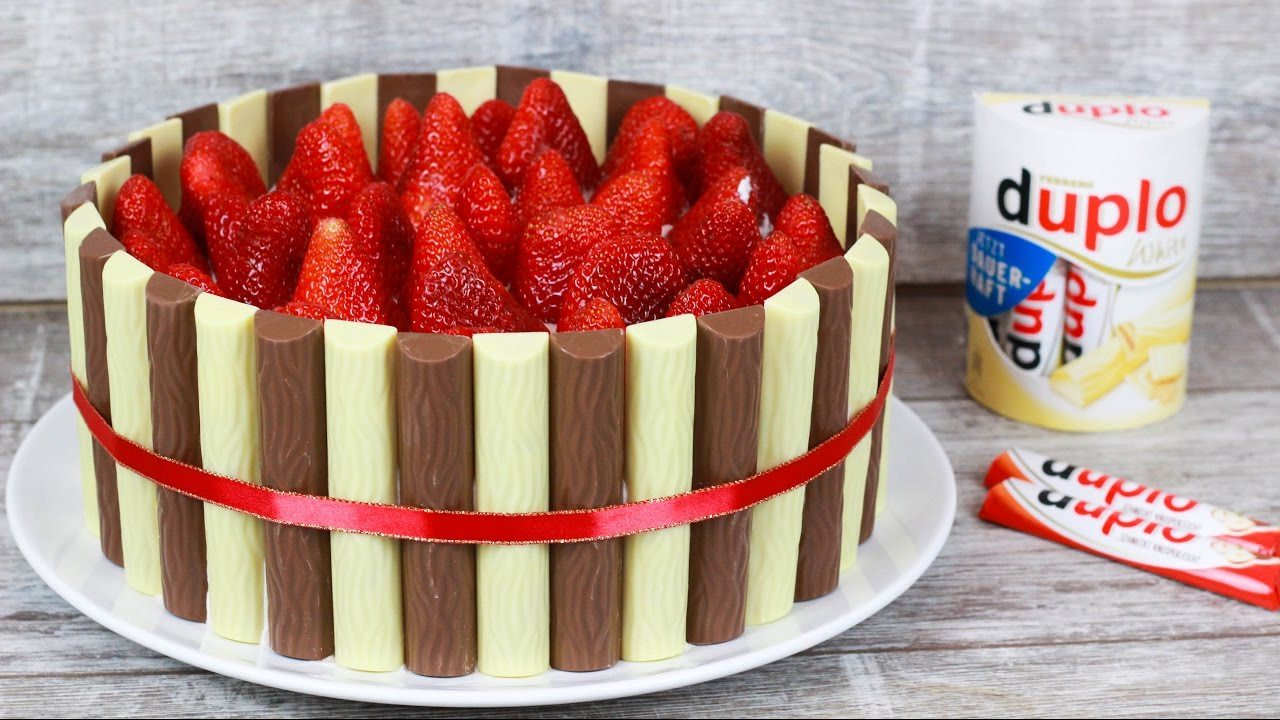 duplo torte mit erdbeeren f r den muttertag duplotorte erdbeertorte youtube. Black Bedroom Furniture Sets. Home Design Ideas
