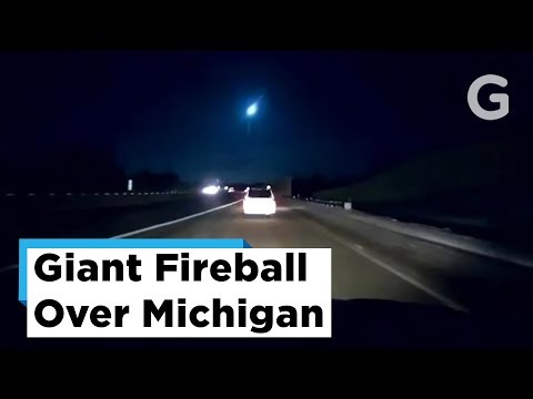 Giant Fireball Over Michigan Visible From Six States