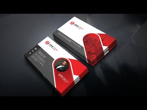 Clean & Modern Business Cards | Photoshop Tutorials