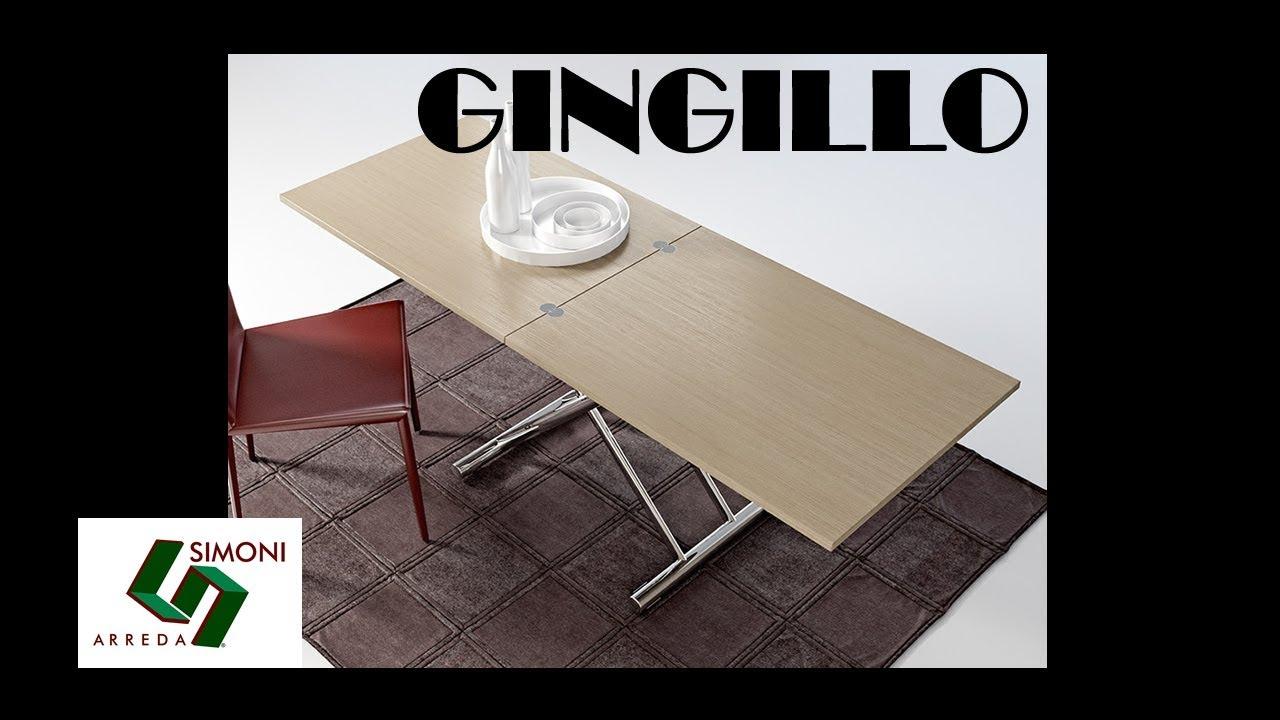 Tavolino trasformabile in tavolo da pranzo GINGILLO - YouTube