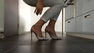 dutchie_in_heels........kitchenvideo with baldinini slingbacks