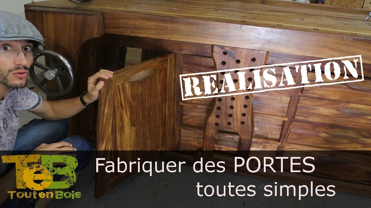 comment construire une petite porte en bois youtube. Black Bedroom Furniture Sets. Home Design Ideas