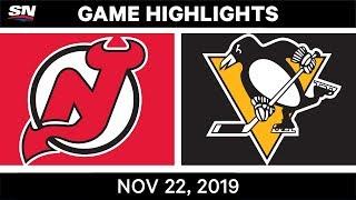 NHL Highlights   Devils vs. Penguins – Nov. 22, 2019