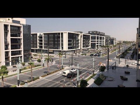 Street view from city walk apartments منظر رائع من شرفة شقق سيتي ووك دبي