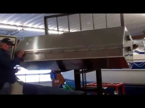 Fuel Tank & Teak Deck Cut-out / Install on a San Juan 38 at Conanicut Marine Services