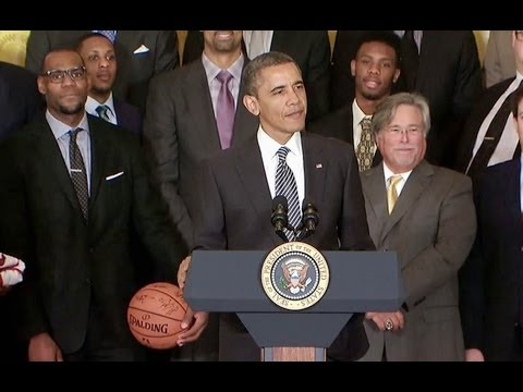 President Obama Welcomes the 2012 NBA Champion Miami Heat