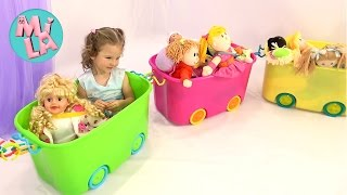 Куклы играют с Милусик Ланусик
