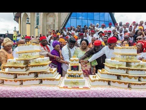 Download Gov. Okorocha Celebrates 55th Birthday With 27 Cakes; EFCC Traces $1.5 Billion To Diezani Madueke