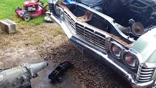 1967 Chevy Bel-Air LS swap part ONE. (mounting the engine)