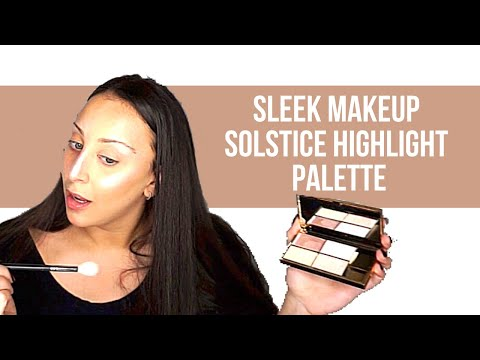 Sleek Makeup Solstice Highlighting Palette- First Impressions And Review