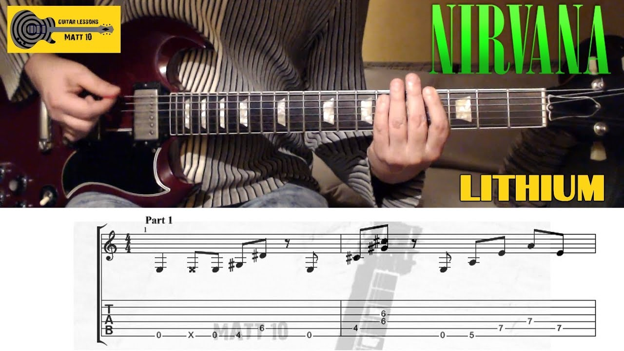 lithium nirvana guitar lesson with tab youtube. Black Bedroom Furniture Sets. Home Design Ideas