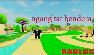 We have the flag. ROBLOX INDONESIA LIFTING SIMULATOR Part # 5