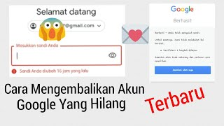 Terbaru Cara Mengembalikan Akun Google Yang Hilang Dan Telah Aktif Verifikasi 2 Langkah Youtube