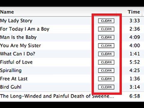 Remove Clean Tag - iTunes
