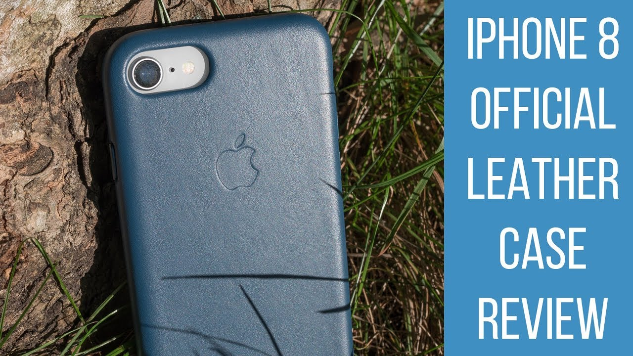 Apple iPhone 8 Official Leather Case Review - YouTube