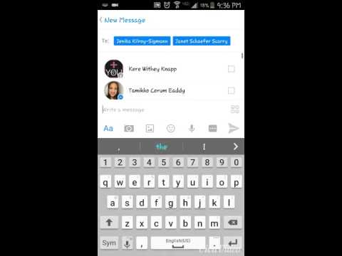 how to create a group message on facebook messenger