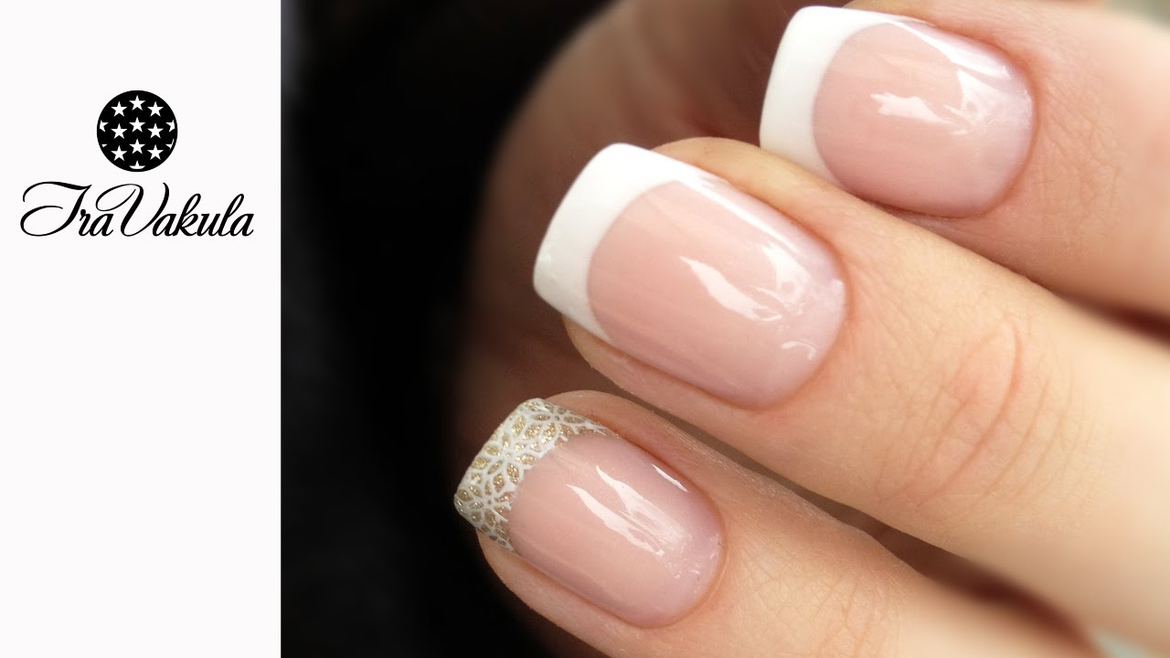 Gel Nail Extensions using Nail Forms - French Nail Art - YouTube