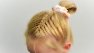Обычная французская коса. Прическа на скорую руку. Простая и быстрая прическа в садик (школу) #12