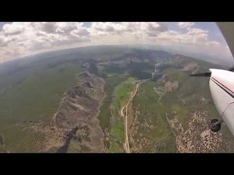 Flying Yellowstone National Park in a C172