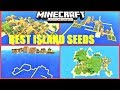 Minecraft PE - Top 5 BEST ISLAND SEEDS ! DOUBLE VILLAGE, STRONGHOLD, MONUMENT & MORE | MCPE 1.2