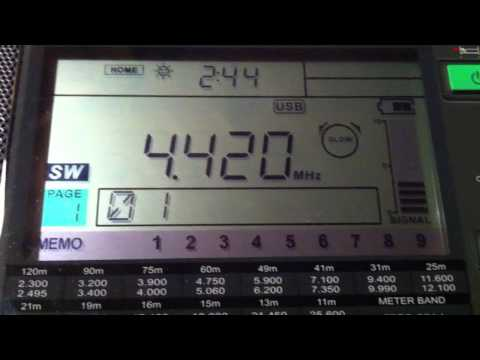 4420 KHz Tallinn Radio (EST) broadcasting weather and navigation warnings (end of transmission)