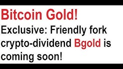 Bitcoin Gold! Exclusive: Friendly fork crypto-dividend Bgold is coming soon!